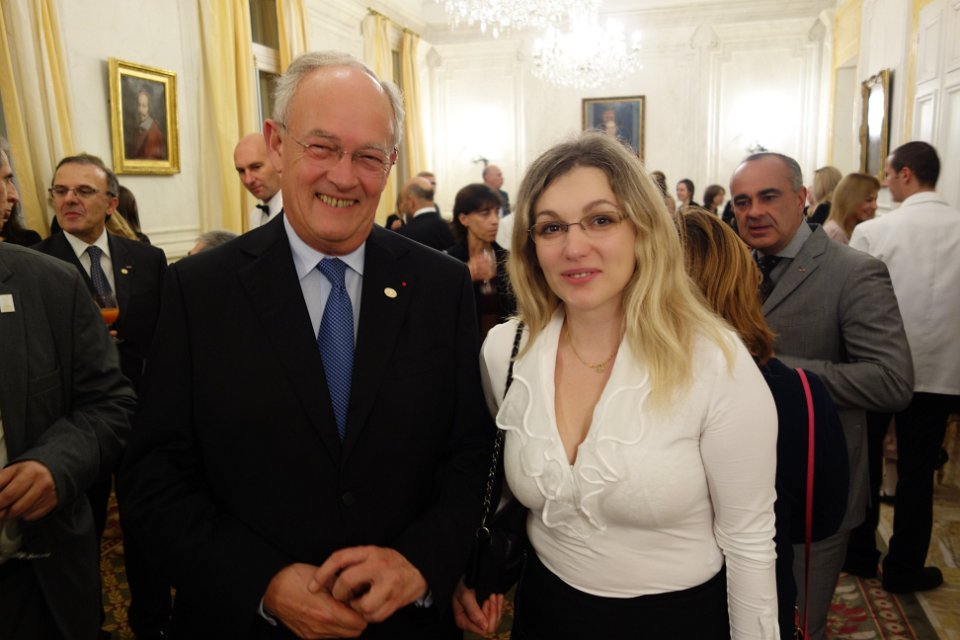 Mr.Michel Roger and Almira Skripchenko
